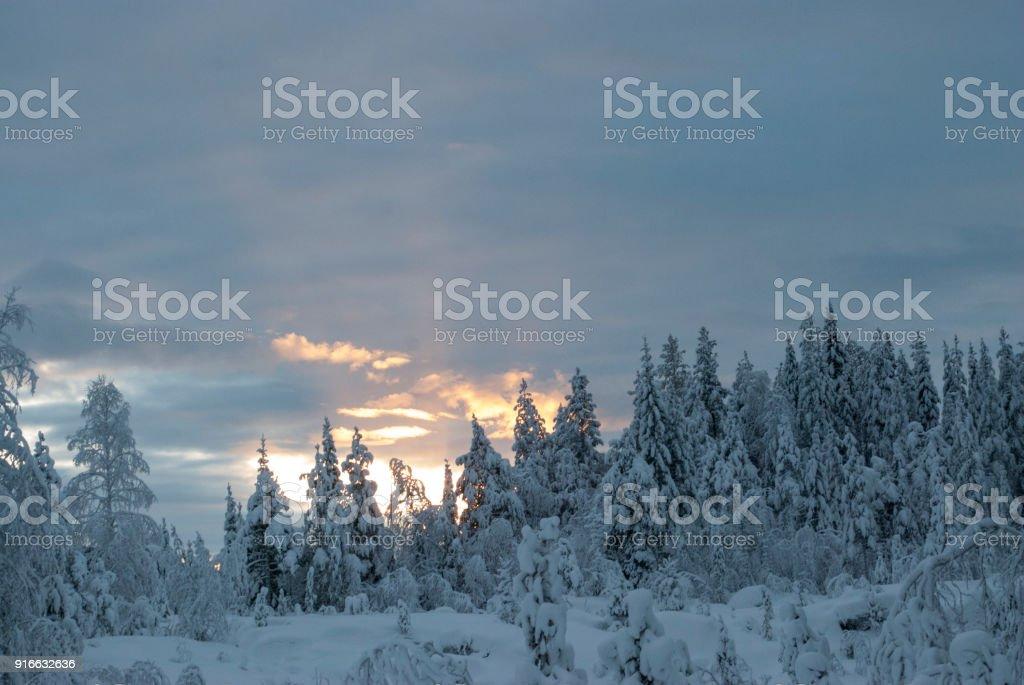 Storforsen in winter stock photo