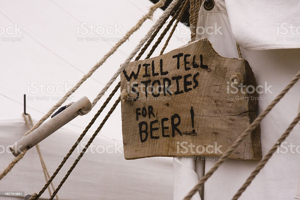 Stories for Beer royalty-free stock photo