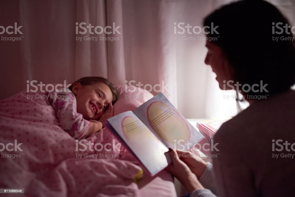Stories to spark her sweetdreams stock photo