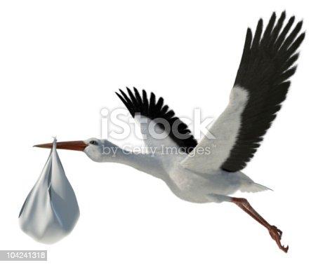 istock Stork & Baby 104241318