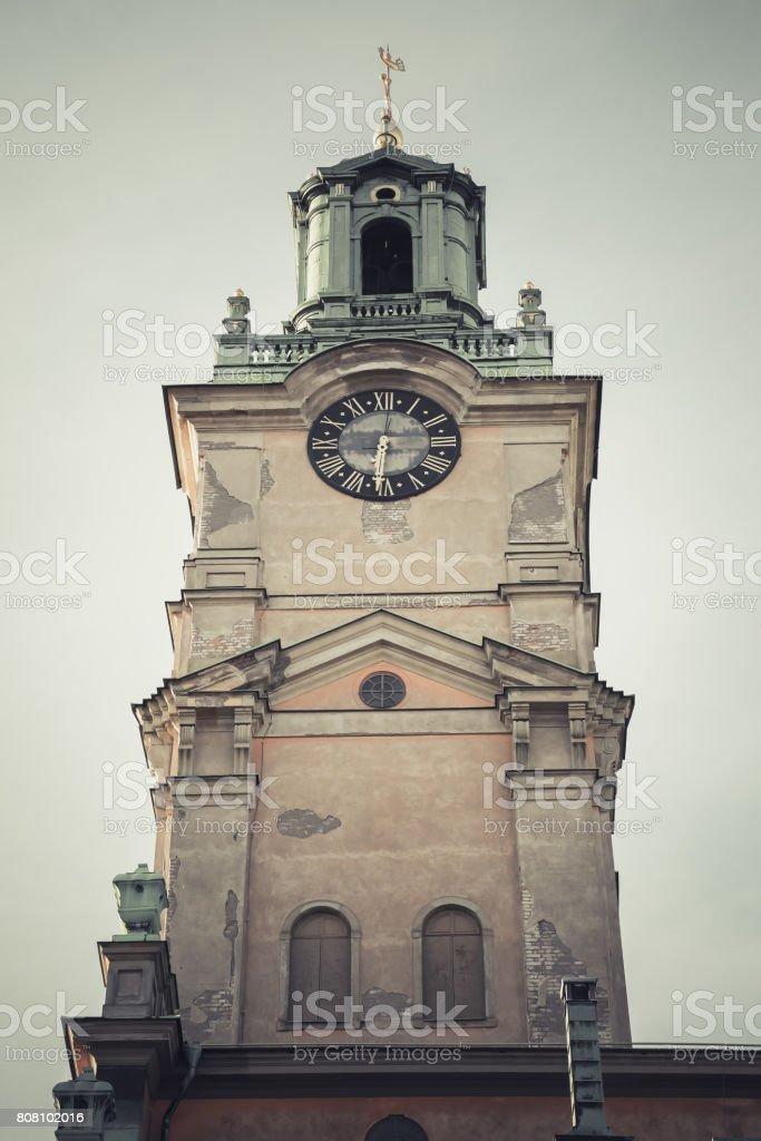 Storkyrkan, church in Gamla stan, Stockholm stock photo