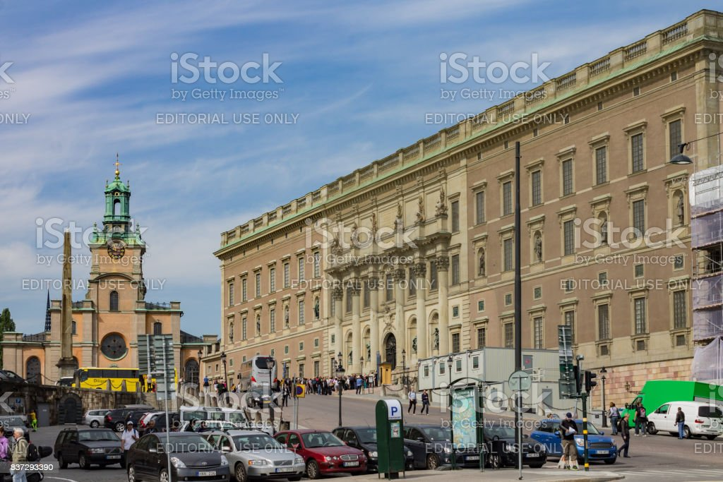 Storkyrkan St Nicholas Church Royal Palace Stockholm Sweden stock photo