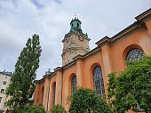 Storkyrkan (Stockholm cathedral) in the old town of Stockholm, Sweden