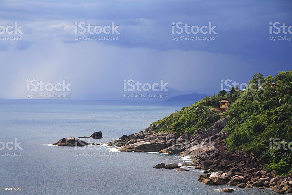 Storm & Ocean (Brazil) stock photo