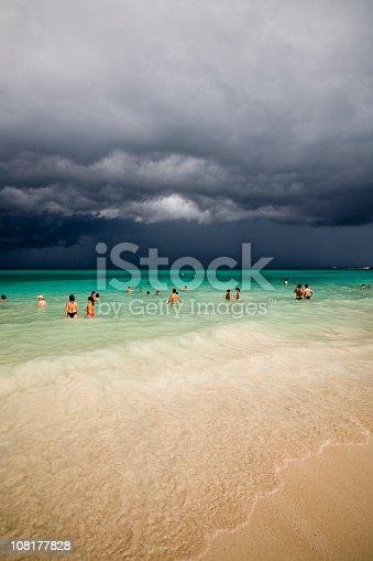 istock Storm Approaching in Playa del Carmen Mexico 108177828