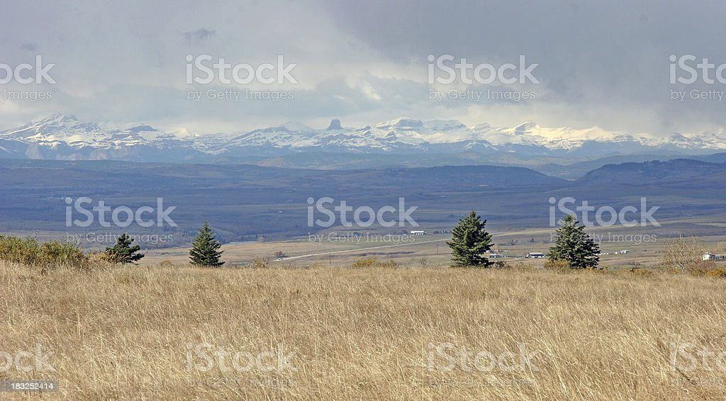 Storm Approaching Over Foothills of Alberta royalty-free stock photo