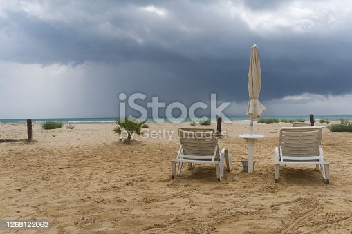 Dramatic weather off the coast of Sicily
