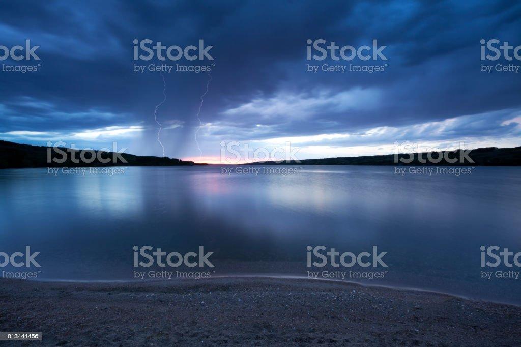 Storm At Buffalo Pound Saskatchewan Canada stock photo
