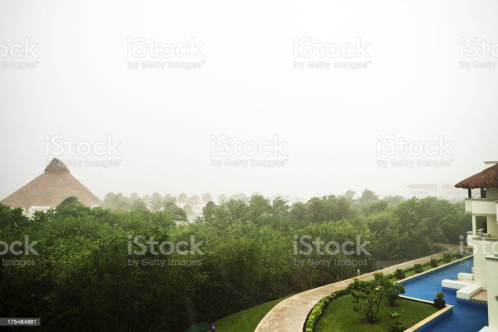 Storm at resort royalty-free stock photo