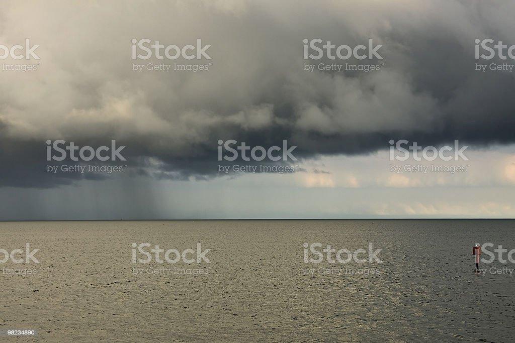 폭풍 at 바다빛 royalty-free 스톡 사진