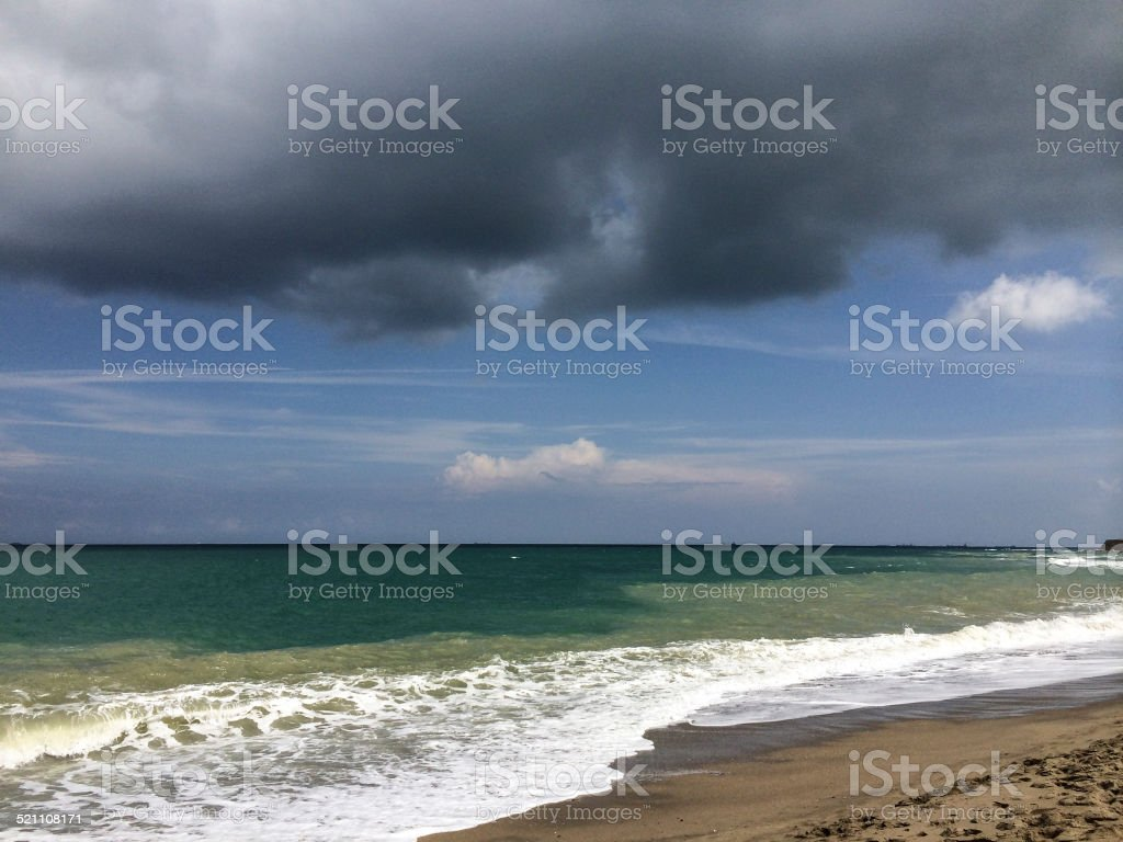 Storm at Sea Side stock photo