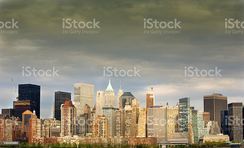 Storm Brewing over Manhattan royalty-free stock photo