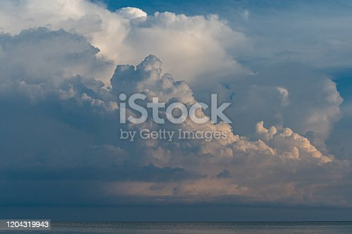 Storm clouds over the South China Sea in Malaysian Borneo