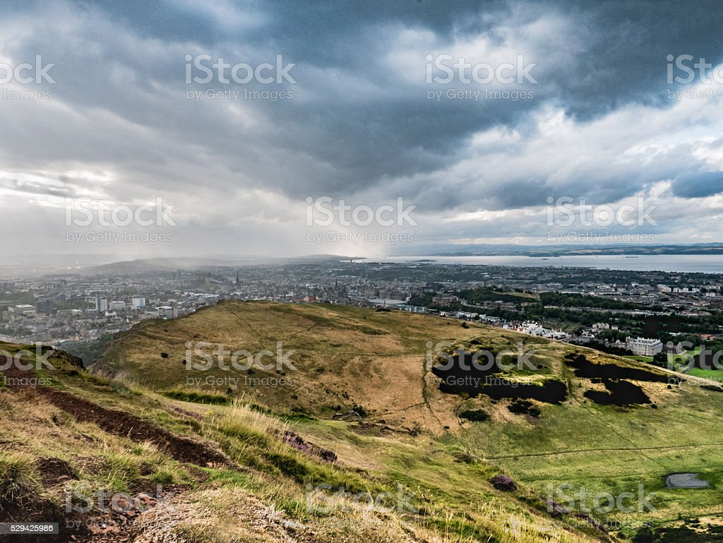 Storm Brewing, Seen from High Place stock photo