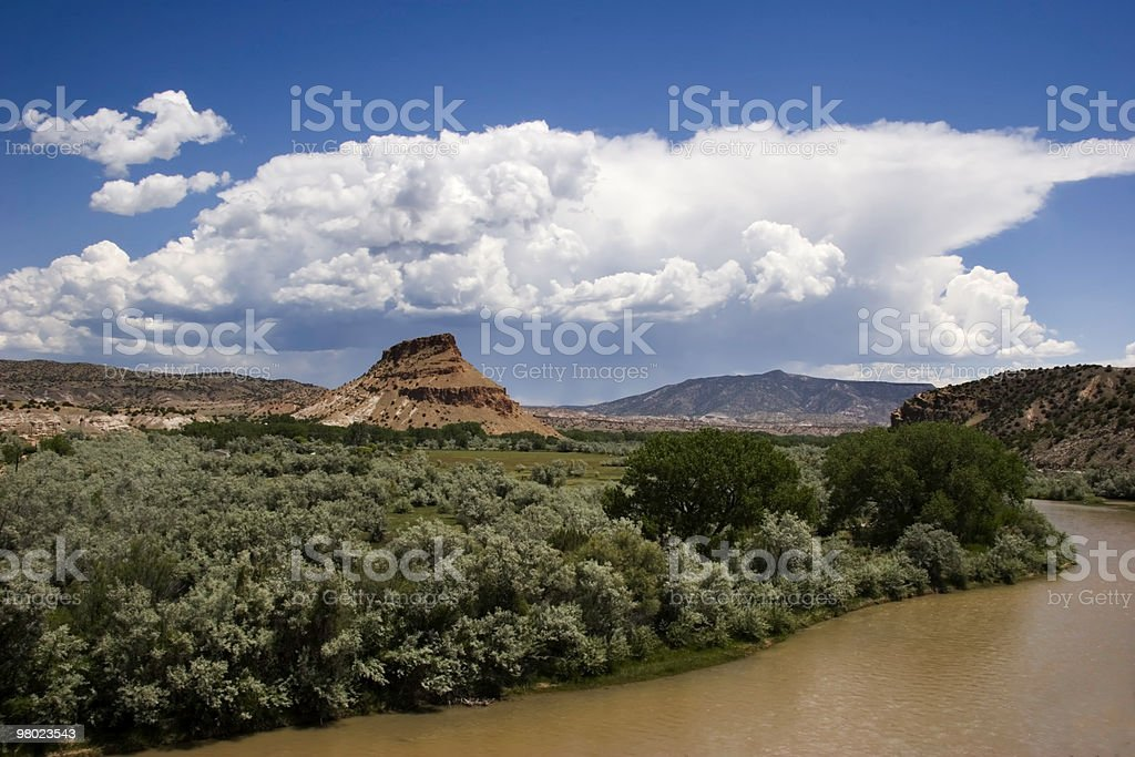 Storm Builds over Abiquiu royalty-free stock photo