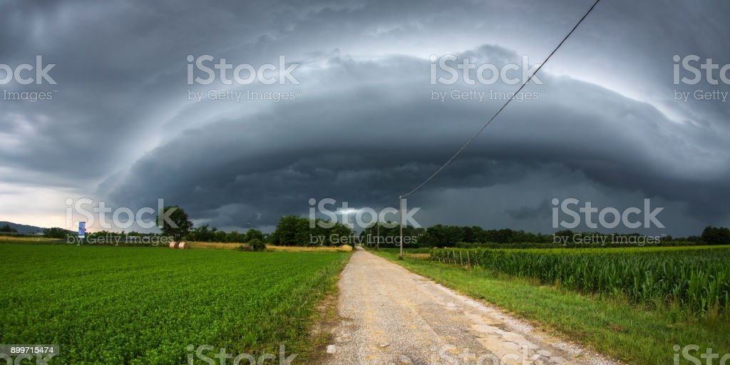 Storm Chasing Italy stock photo