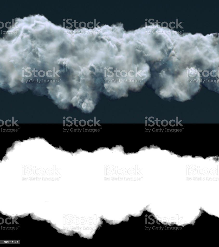 Storm cloud on dark background 3d rendering stock photo