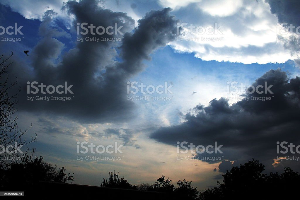 Storm clouds after rain royalty-free stock photo