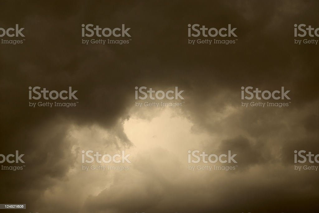 Storm Clouds At Dusk royalty-free stock photo