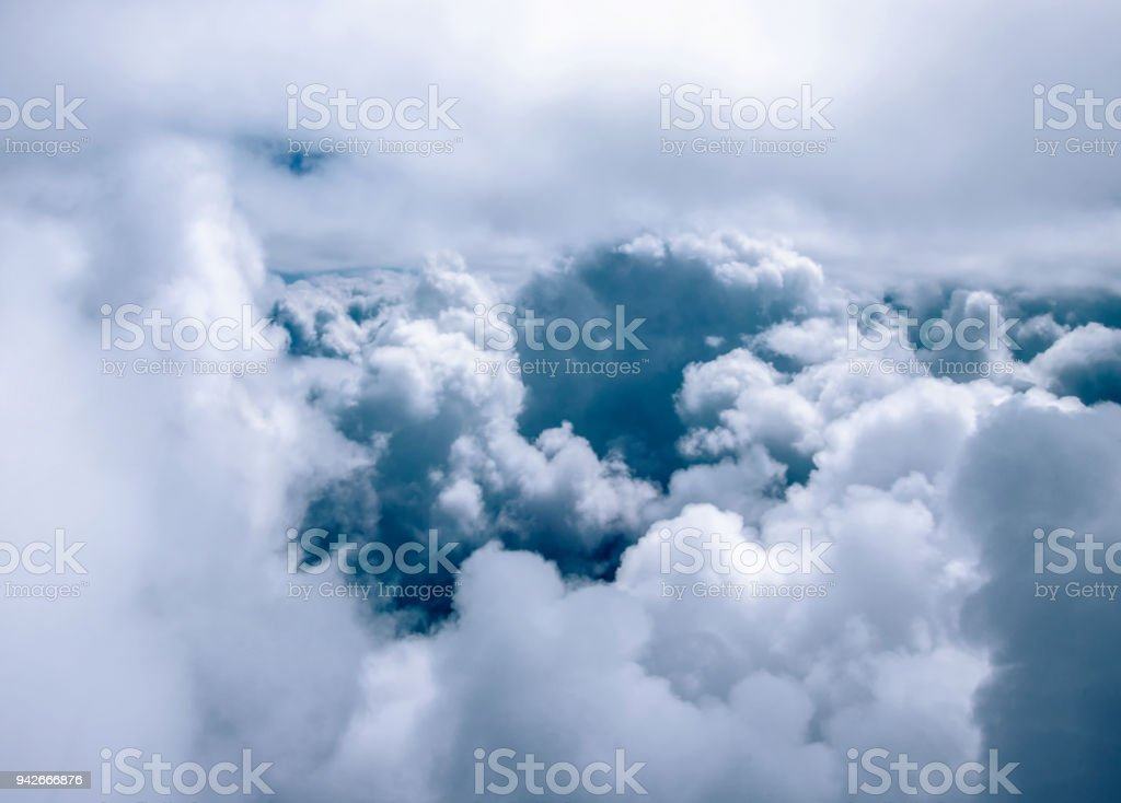 Storm Clouds closeup on the Sky Background stock photo