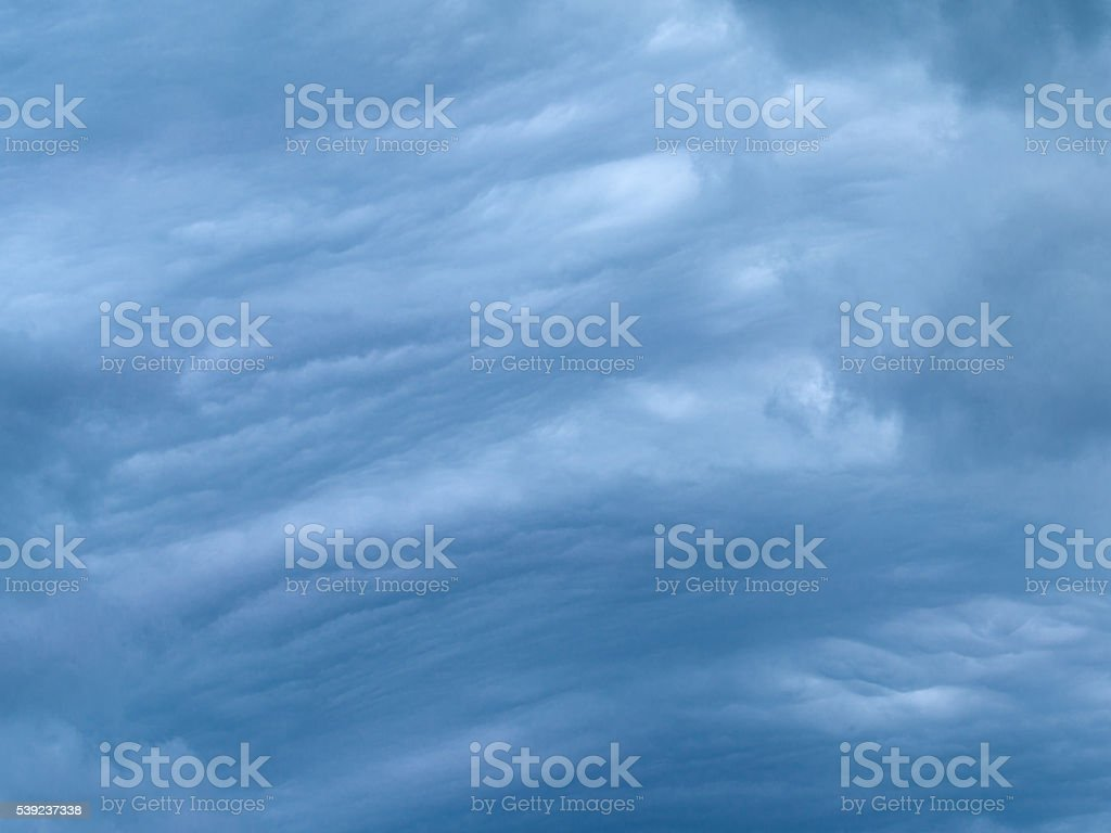 storm clouds cumulus and cirrus royalty-free stock photo