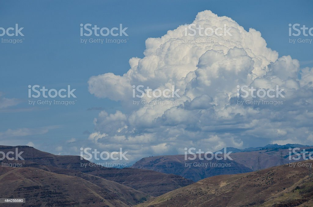 Storm Clouds Descending on Hells Canyon stock photo