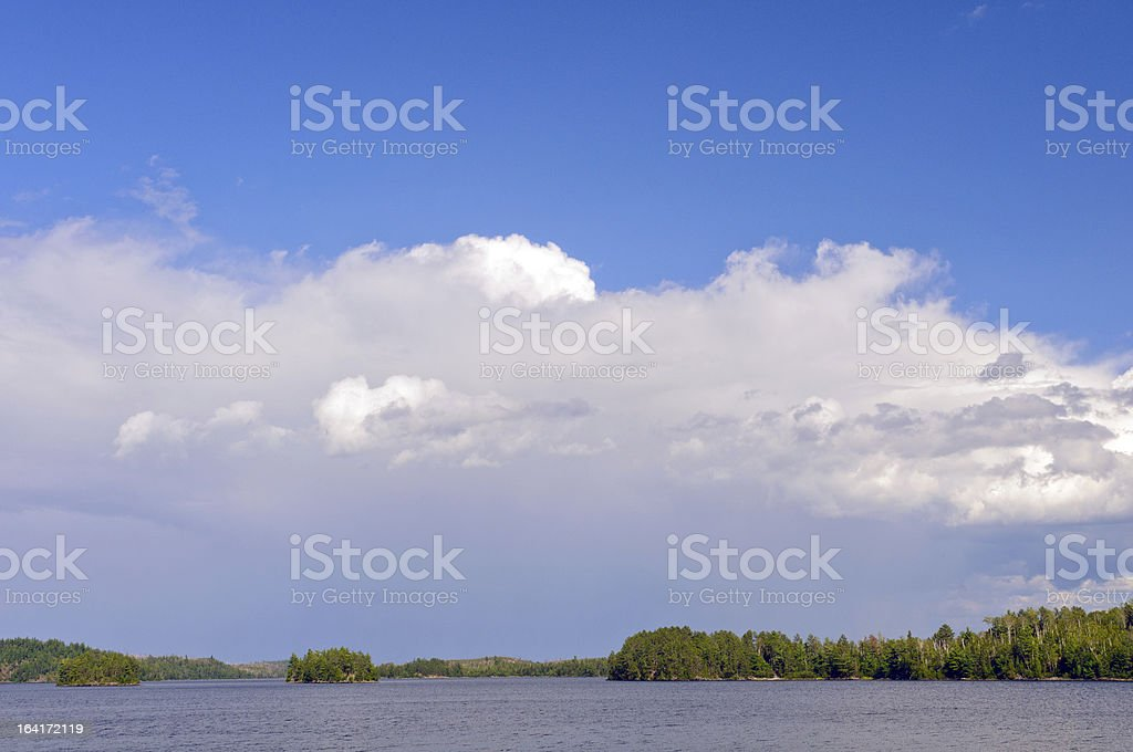 Storm Clouds forming over Canoe Country royalty-free stock photo