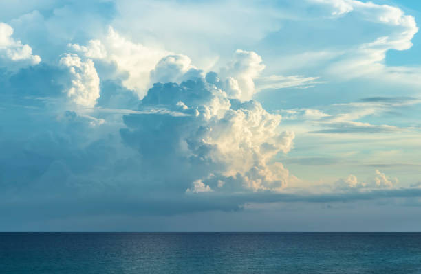 storm clouds forming over ocean - atlantic ocean stock pictures, royalty-free photos & images
