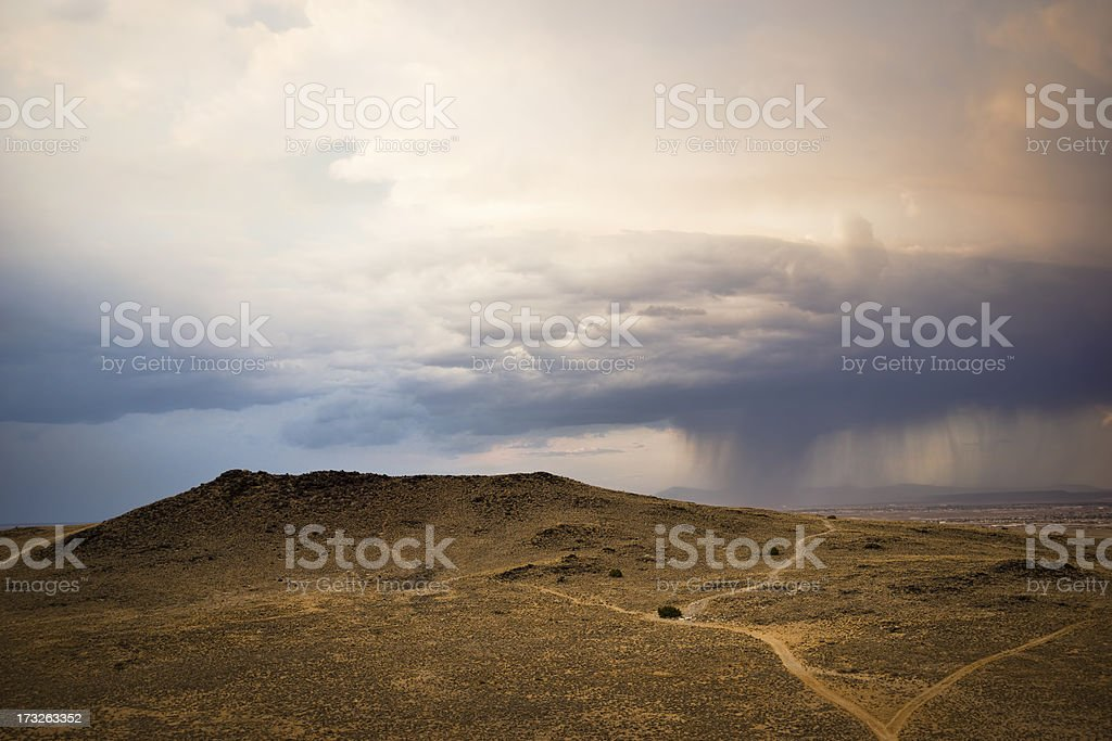 Storm Clouds Gather Over An Extinct Volcano royalty-free stock photo