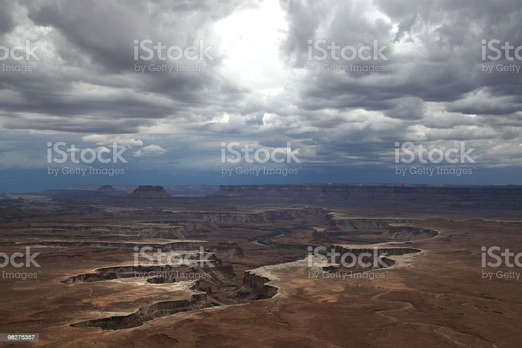 Storm Clouds Gather Over Canyonlands, Utah, Southwest USA royalty-free stock photo