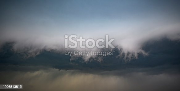 1089986346 istock photo Storm clouds in the sky with a shelf cloud rolling forward 1206813815