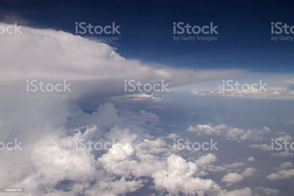 Storm clouds landscape royalty-free stock photo