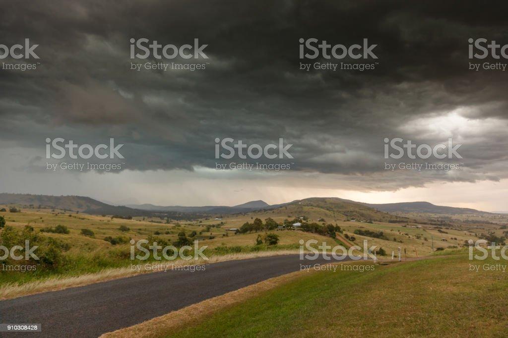 Storm clouds near Boonah, Queensland, Australia stock photo