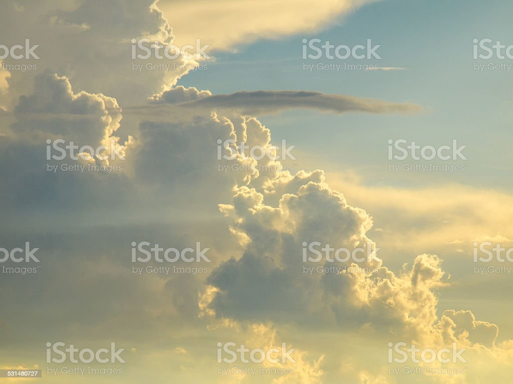 Storm clouds on the sky in a different format stock photo