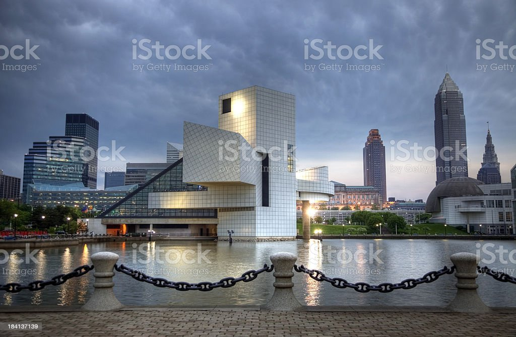 Storm Clouds Over Cleveland stock photo