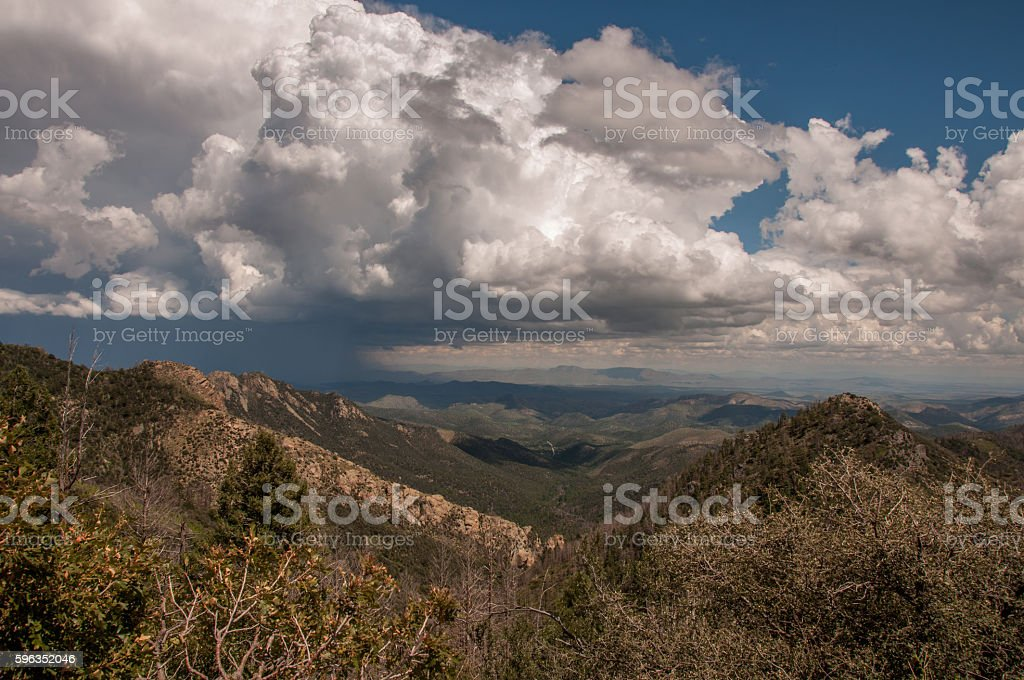 Storm Clouds Over Emory Pass in Gila National Forest royalty-free stock photo