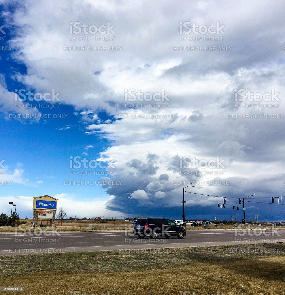 Shooting In Falcon Colorado: Storm Clouds Over Falcon Colorado Stock Photo
