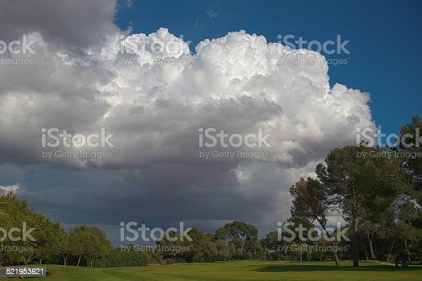 Photo of Storm Clouds Over Golf Course HDR
