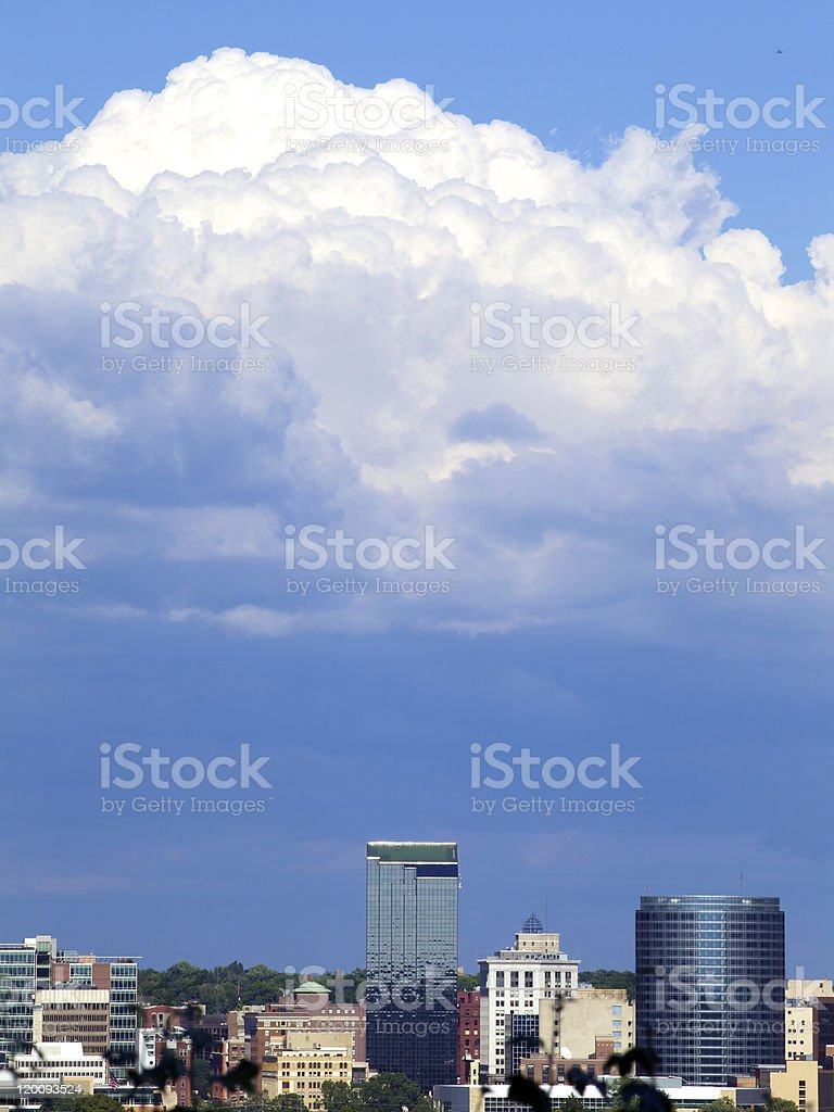 Storm Clouds Over Grand Rapids stock photo