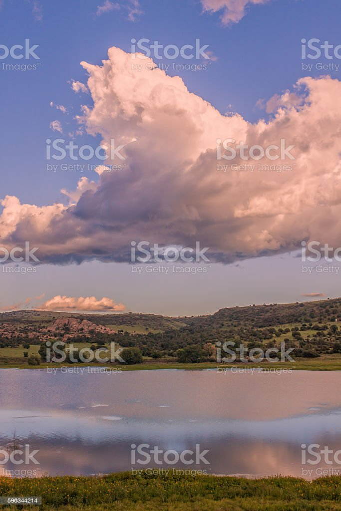 Storm Clouds Over lake royalty-free stock photo