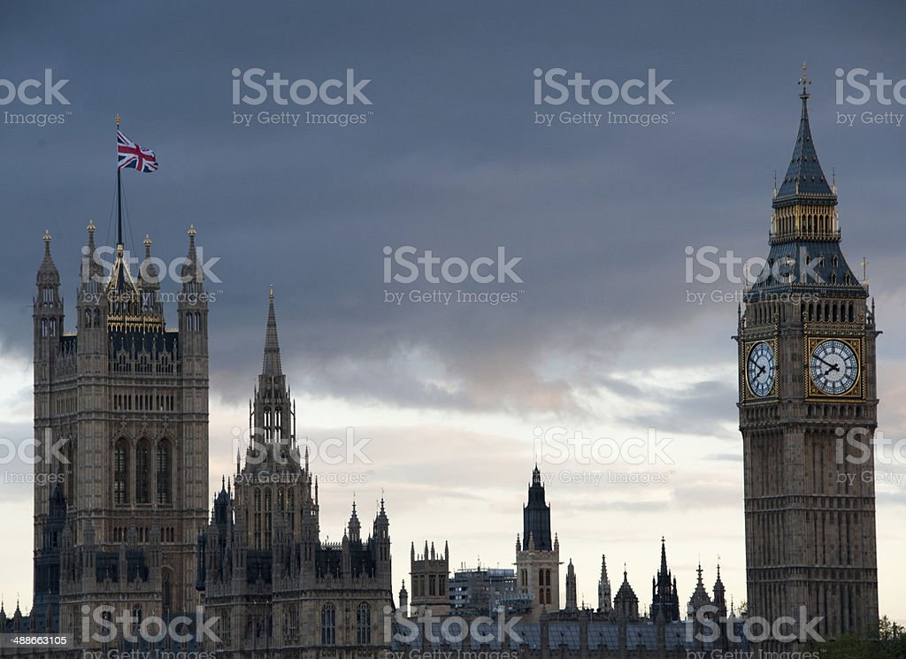Storm Clouds over Parliament stock photo