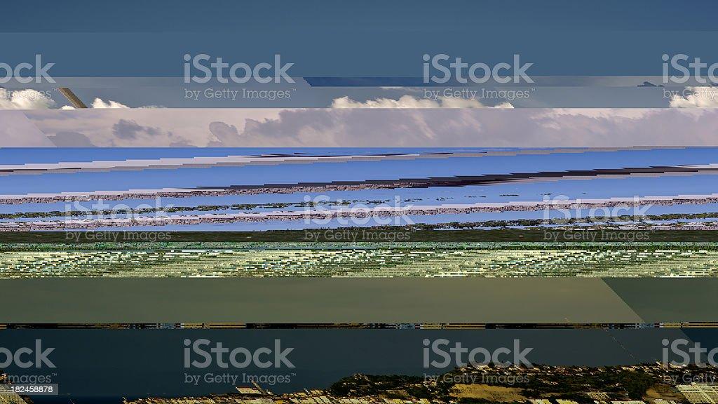 Nubes de tormenta sobre Piran foto de stock libre de derechos