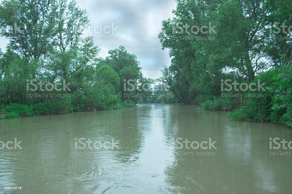 storm clouds over river royalty-free stock photo
