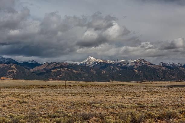 Storm Clouds over the Sangre De Cristo Range stock photo
