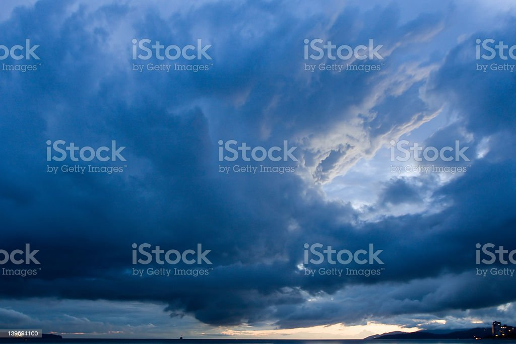 storm clouds over west vancouver royalty-free stock photo
