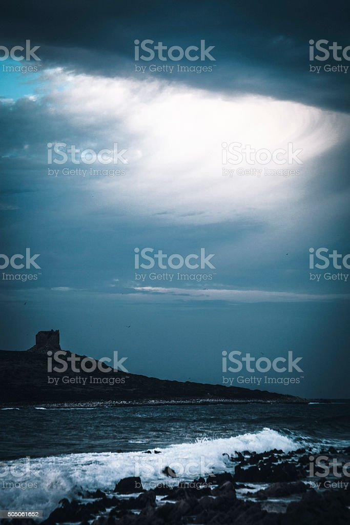 Storm clouds, Sicily. stock photo