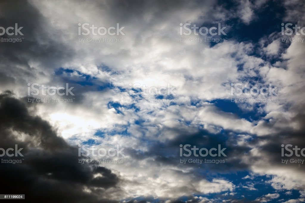 Storm clouds with the rain stock photo