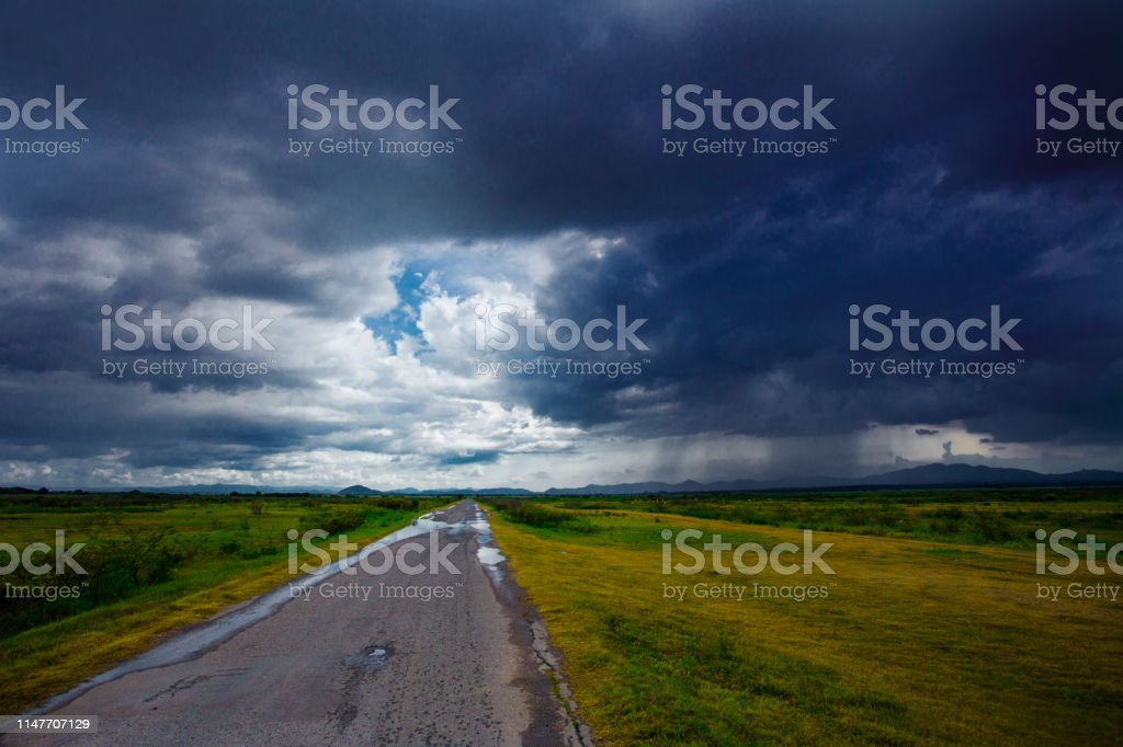 Storm is coming raining ahead shown level of rain cloud lower than...
