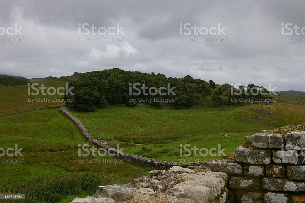 Storm Coming in on Hadrian's Wall royalty-free stock photo
