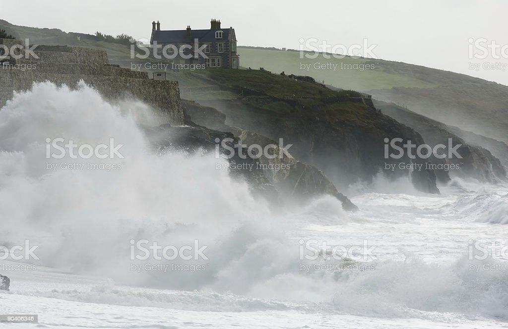 Storm, Cornwall stock photo